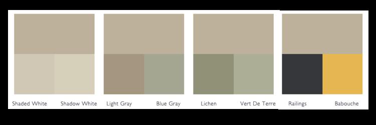 kleurschema drop cloth