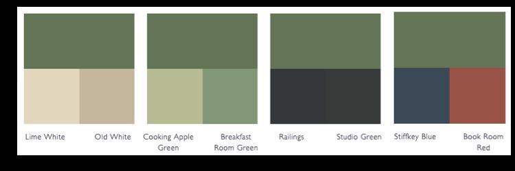 Kleurschema Calke Green