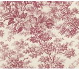 Little Greene Stag Toile Burgundy