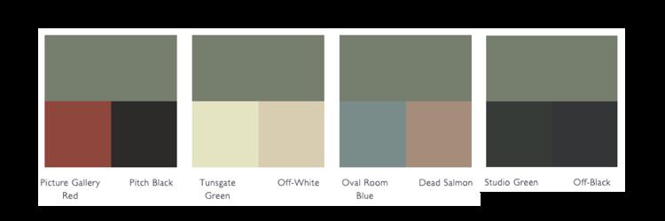 kleurschema card room green