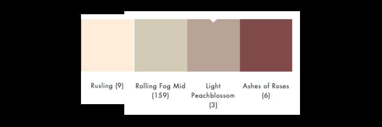 kleurschema light peachblossom