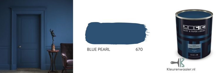 Warm blauw muurverf